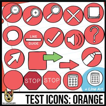Testing Icon Clip Art: Orange