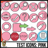 Testing Icon Clip Art: Pink