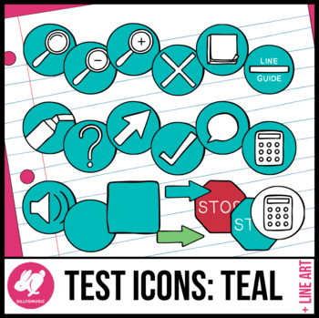 Testing Icon Clip Art: Teal