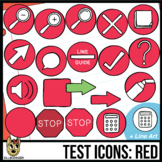 Testing Icon Clip Art: Red