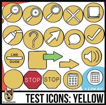 Testing Icon Clip Art: Yellow