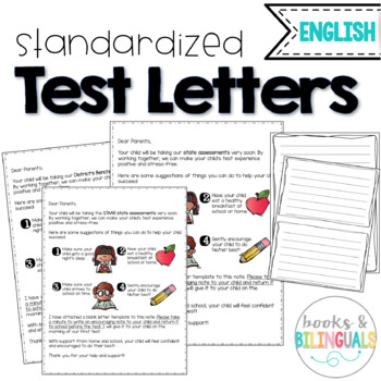 Testing Letter to Parents {English}