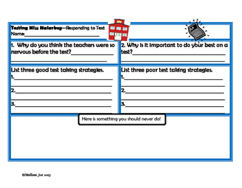 Testing Miss Malarkey-Literacy Activities to Reinforce the Importance of Tests