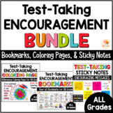 Testing Motivation BUNDLE: Bookmarks, Coloring Pages, and Sticky Notes