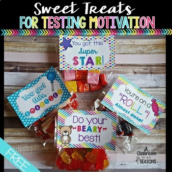 Testing Motivation: Sweet Treats Labels