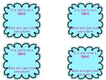 Testing Motivation Candy Tags