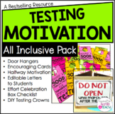 Testing Motivation Pack | Test Prep Positive Notes, Door Hangers and More