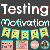 Testing Motivation /// Banners /// Worksheets /// Print & Go