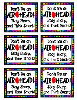 Testing Motivation Treat Label: Don't be an AIRHEAD! Stay Sharp and Think Smart!
