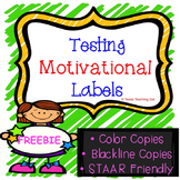 Testing Motivational Labels *FREEBIE*