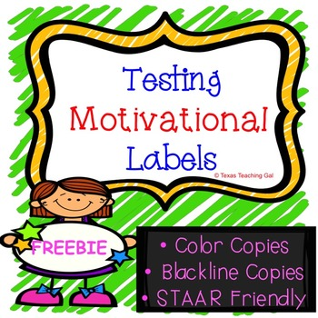 Testing Motivational Labels *FREEBIE*