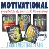 Motivational Posters for Testing & Treats pencil toppers