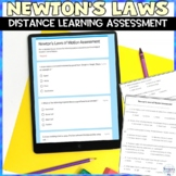 Newton's Laws of Motion Test for Distance Learning