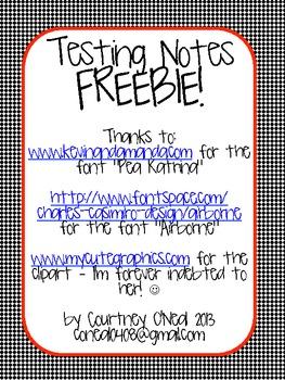 Testing Notes Freebie (Generic)