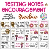 Testing Notes of Encouragement Printable FREEBIE Melonheadz Clipart