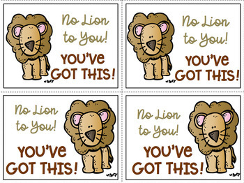 Testing Notes of Encouragement Printable FREEBIE Melonheadz Clipart