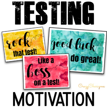 Testing Notes to motivate and inspire