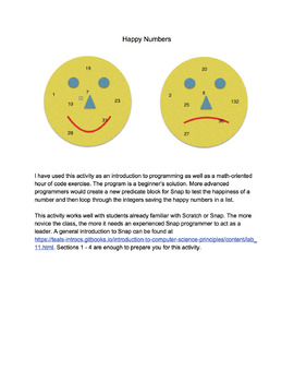 Testing Numbers for Happiness (Happy Numbers)