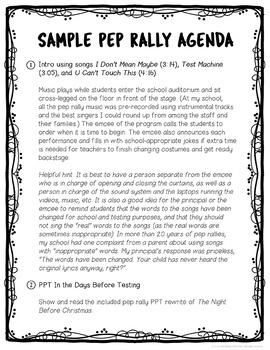 State Test Pep Rally Bundle