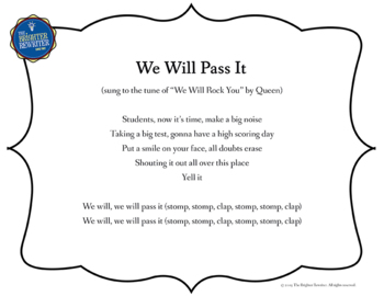 Testing Pep Rally Song Lyrics PPTs