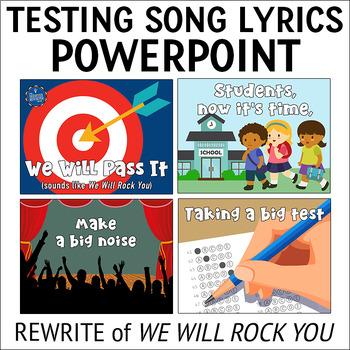 Testing Pep Rally Song Lyrics PPTs