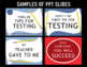 Testing Motivation PPTs Bundle