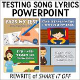 Testing Song Lyrics PPT