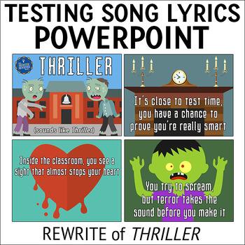 Testing Pep Rally Song Lyrics PPT