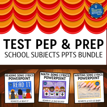 Testing Pep Rally Subjects PPTs Bundle