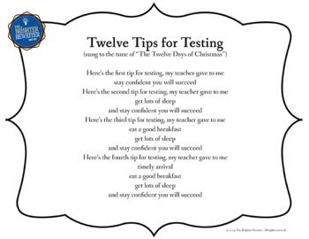 Testing Pep Rally Reading Song Lyrics PPT