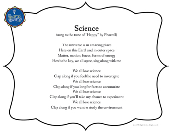 Testing Pep Rally Science Song Lyrics PPT