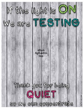 Testing Poster: Quiet, Do Not Disturb