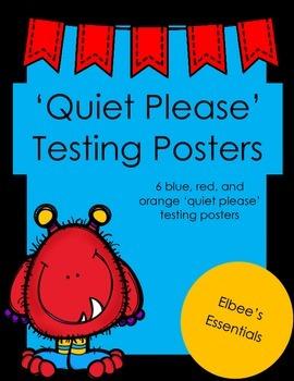 Testing Posters (Blue, Red, & Orange)