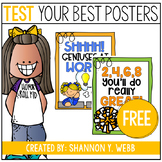 Motivational Testing Posters FREEBIE