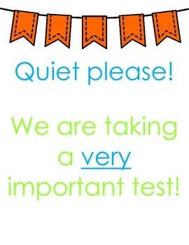 Testing Posters (Green, Blue, & Orange)