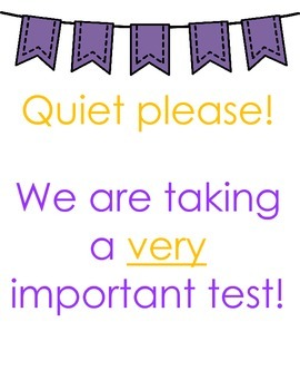 Testing Posters (Purple & Orange)