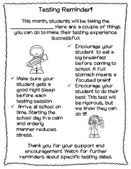 Testing Preparation and Reminders