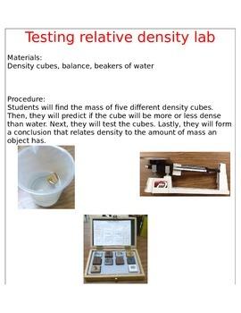 Testing Relative Density Lab