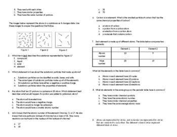 Testing Review, Atoms and Molecules, NGSSS