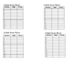 Testing Review Games Score Sheet