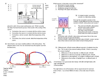 Testing Review, Radiation, Conduction and Convection and Wind, NGSSS