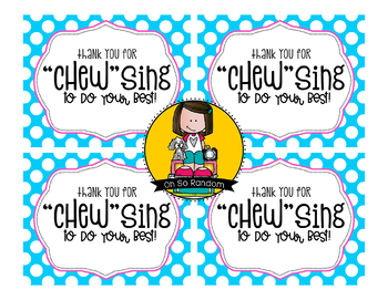"Testing Reward Treat Tag | ""Chew""sing"