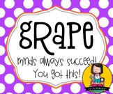 Testing Reward Treat Tag | Grape