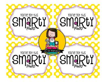 Testing Reward Treat Tag | Smartie Pants
