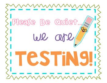 Testing Sign