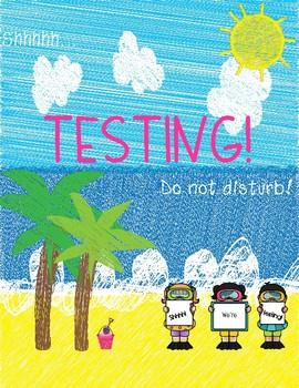 Testing Sign (Beach Themed)