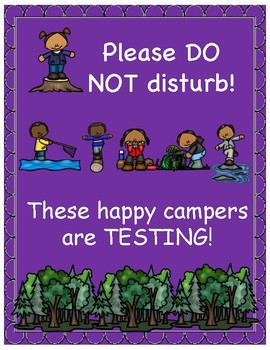 Testing Sign-Camping Theme