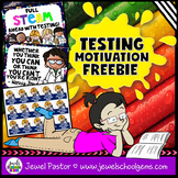 Testing Sign, Testing Motivation Poster and Testing Reward Tags FREE