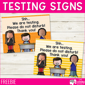 Testing Signs - FREE