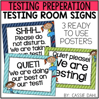 Testing Room Signs